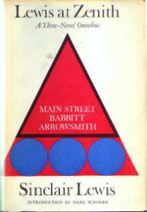 Sinclair Lewis Three-Novel Omnibus 1961 Book Pic 1