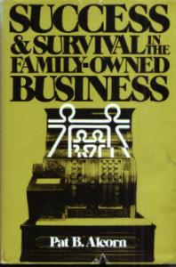SUCCESS & SURVIVAL in the FAMILY-OWNED BUSINESS HB w/DJ