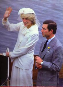 CHARLES and DIANA visit CANADA :: 1983 HB w/ DJ Pic 2