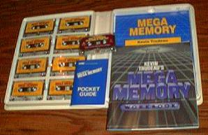 MEGA MEMORY :: Kevin Trudeau :: 9 Cassettes, 2 Books Pic 2