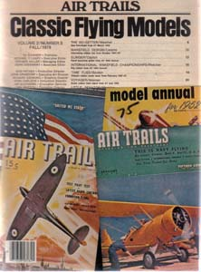 Lot of 3: AIR TRAILS Model Magazines: 1959, 1978 Pic 3