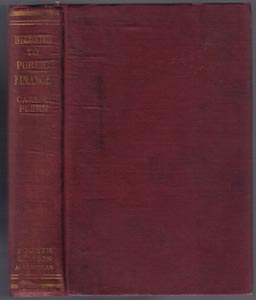 INTRODUCTION TO PUBLIC FINANCE :: 1920 HB