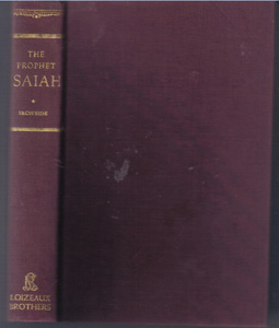 THE PROPHET ISAIAH :: 1952 HB