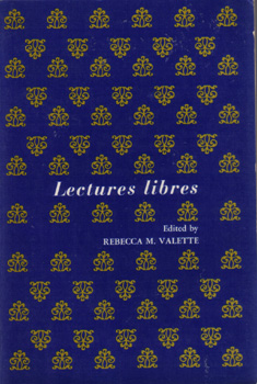 Lectures Libres :: Rebecca Valette :: French Study Book