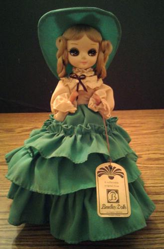 Vintage Big Eye Bradley Doll with Green Dress Pic 1