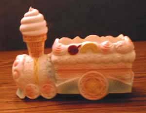 Ceramic Dessert Train Planter  Pic 1