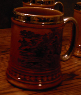 Lot of 4: Beer Mugs :: Horse Theme Overlay Steins   Pic 2