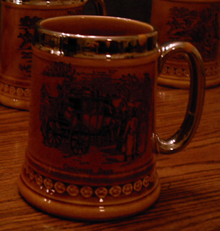 Lot of 4: Beer Mugs :: Horse Theme Overlay Steins   Pic 3