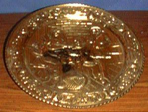 3 Gold-colored Decorative Round Trays Pic 1