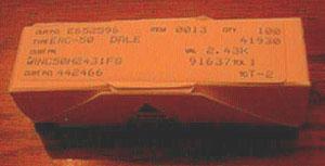 Lot of 100: Vishay Dale RNC50H2431FS Military Metal Film Resistors Pic 1