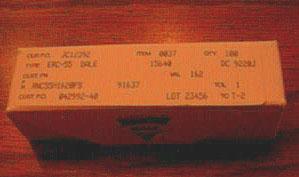 Lot of 100: Vishay Dale RNC55H1620FS Military Metal Film Resistors Pic 1