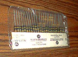 25: Allen Bradley RCR32G240JS : 1W 24 Ohms Resistors Pic 1