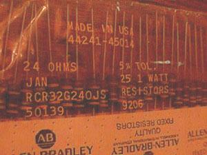 25: Allen Bradley RCR32G240JS : 1W 24 Ohms Resistors Pic 2