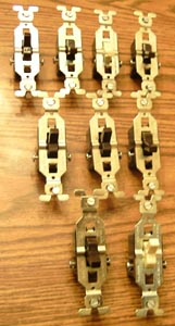 Lot of 9: GE 2 Wire Toggle Switches Pic 1