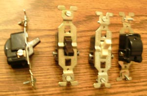 Lot of 9: GE 2 Wire Toggle Switches Pic 2