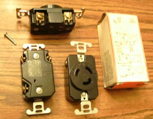 Lot of 3: P&S L-1120R 20A 250V 3PH Turnlok® Locking Receptacles Pic 1