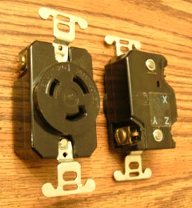 Lot of 3: P&S L-1120R 20A 250V 3PH Turnlok® Locking Receptacles Pic 2