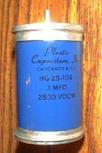Plastic Capacitors, Inc. HG25-104 :: .1MFD 2500 VDCW Pic 2