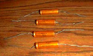 Lot of 4: Sprague WH11D 50UF 100 WVDC Axial Capacitors Pic 1