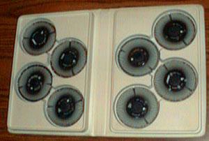 Burroughs NU-KOTE Print wheel Library :: 8 Printwheels Pic 1