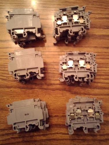 Lot of 29: Entrelec Fuse Holder Terminal Blocks