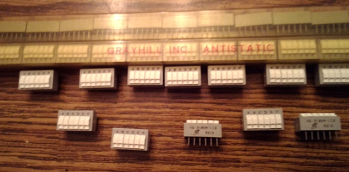 Lot of 45: Grayhill KS-21859-L13 DIP Switches