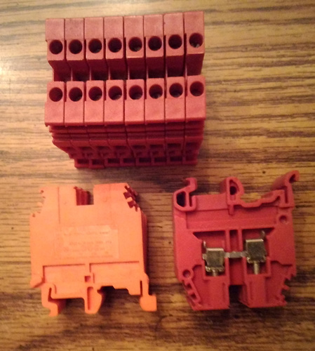 Lot of 14: Entrelec M4/6_5116 Terminal Blocks