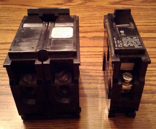 Lot of 2: Crouse Hinds HACR Type Circuit Breakers :: 30A 2P + 20A 1P Pic 2