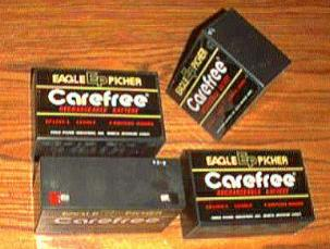 Lot of 4: Eagle Picher CF12V5-L Rechargeable Batteries Pic 1