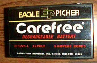 Lot of 4: Eagle Picher CF12V5-L Rechargeable Batteries Pic 2