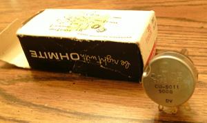 OHMITE CU-5011 :: 500 Ohms 2 Watt Potentiometer Pic 2