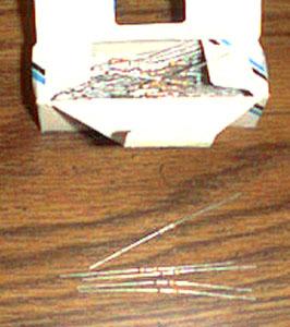 Lot of 95: MEPCO / ELECTRA, INC. 4E7 Axial Carbon Film Resistors