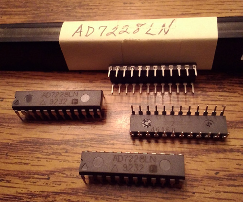 Lot of 4: Analog Devices AD7228LN