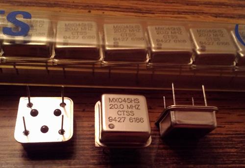 Lot of 20: CTS MXO45HS 20.0 MHz Oscillators