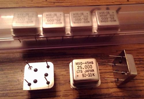 Lot of 7: CTS MXO45HS 25.000 MHz Oscillators
