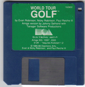 Lot of 3 AMIGA Games: WORLD TOUR GOLF, LICENCE TO KILL, POKER    Pic 1