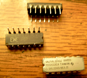 Lot of 9: Texas Instruments SNJ54LS243J