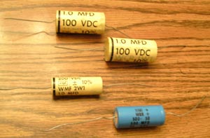 Lot of 4: Vintage CDE Capacitors