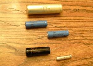 Lot of 5: Vintage Sprague Capacitors
