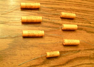 Lot of 7: Vintage Sprague TVA Capacitors