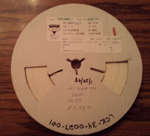 Lot of 4900 ?: Vishay Dale CRCW080551R1FRT1 Resistors