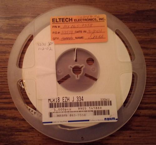 Lot of 4230 ?: ROHM MCR18EZHJ334 Resistors