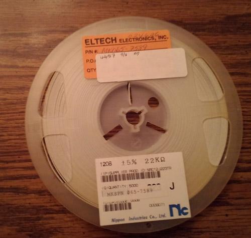 Lot of 4487 ?: NIC Components NRC12J223TR Resistors