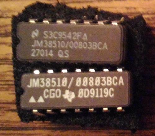 Lot of 2: JM38510/00803BCA (TI/NSC)