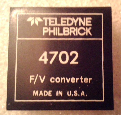 Teledyne Philbrick 4702 Frequency to Voltage Converter