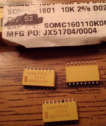 Lot of 75: Vishay Dale SOMC1603100G Resistor Network