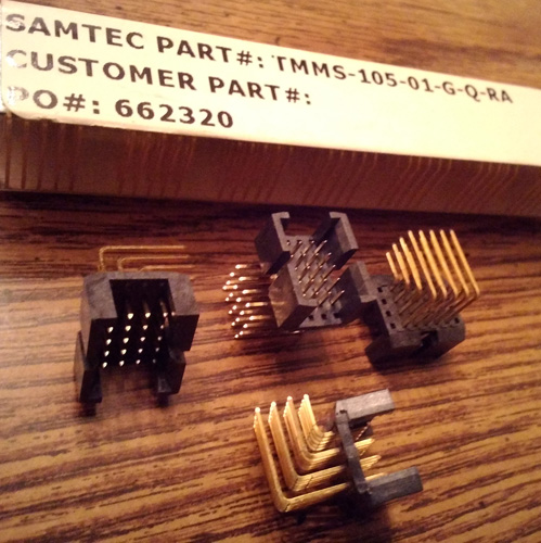 Lot of 23: Samtec TMMS-105-01-G-Q-RA