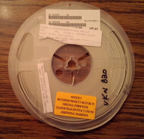 Partial Reel of Venkel C0603COG500-331JNE-LF :: FREE Shipping