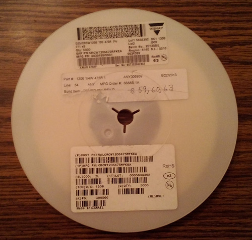 Partial Reel of Vishay CRCW1206475RFKEA :: FREE Shipping