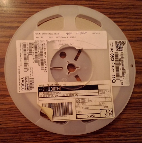 Partial Reel of Yageo RC0603FR-0711K3L :: FREE Shipping